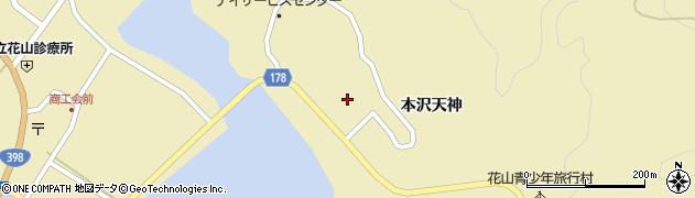 宮城県栗原市花山本沢百目木周辺の地図