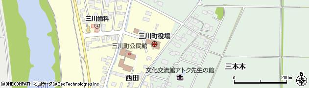 山形県三川町(東田川郡)周辺の地図