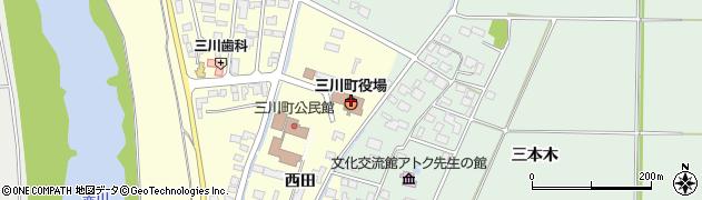 山形県東田川郡三川町周辺の地図