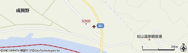山形県酒田市成興野上堰内50周辺の地図