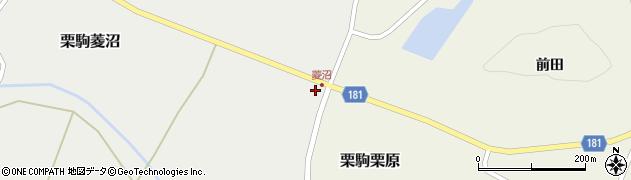 宮城県栗原市栗駒菱沼二ツ檀周辺の地図