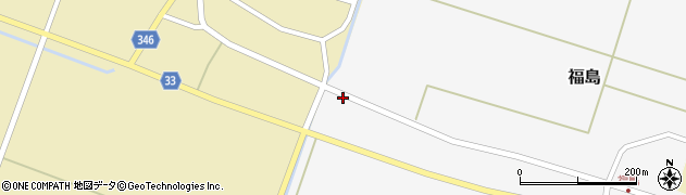 山形県東田川郡庄内町福島西大坪周辺の地図