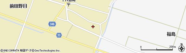 山形県東田川郡庄内町前田野目東前割周辺の地図