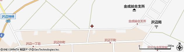 宮城県栗原市金成沢辺新町裏周辺の地図