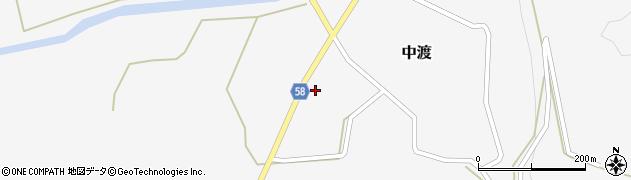 山形県最上郡鮭川村中渡59周辺の地図