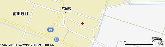 山形県東田川郡庄内町前田野目前割17周辺の地図