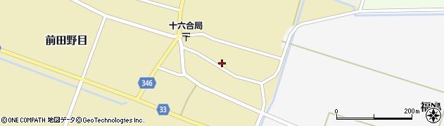 山形県東田川郡庄内町前田野目前割21周辺の地図