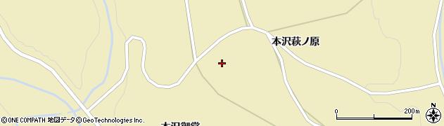 宮城県栗原市花山本沢萩ノ原周辺の地図