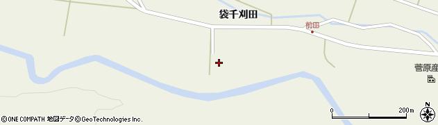 宮城県栗原市鶯沢袋千刈田周辺の地図