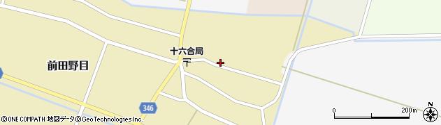山形県東田川郡庄内町前田野目田割18周辺の地図