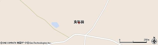 岩手県一関市花泉町涌津亥年前周辺の地図
