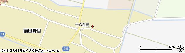 山形県東田川郡庄内町前田野目田割21周辺の地図