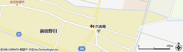 山形県東田川郡庄内町前田野目田割周辺の地図