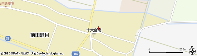 山形県東田川郡庄内町前田野目田割22周辺の地図