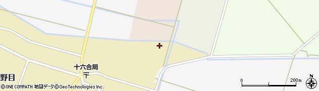 山形県東田川郡庄内町主殿新田中割周辺の地図