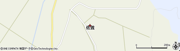 山形県最上郡鮭川村佐渡952周辺の地図