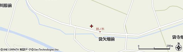 宮城県栗原市鶯沢袋柿木裏周辺の地図