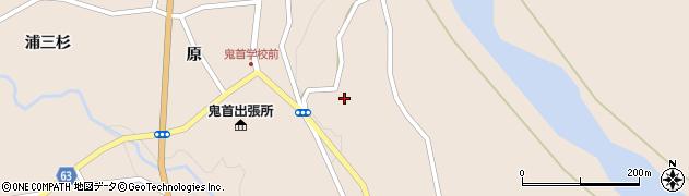宮城県大崎市鳴子温泉鬼首(百目木)周辺の地図