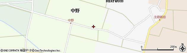 山形県東田川郡庄内町中野北割周辺の地図