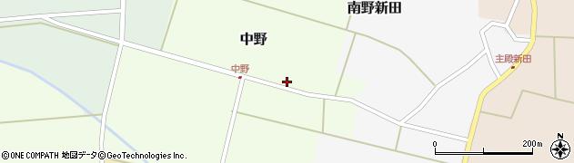 山形県東田川郡庄内町中野北割19周辺の地図