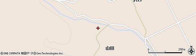 宮城県大崎市鳴子温泉鬼首(山田下)周辺の地図