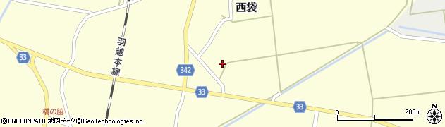 山形県東田川郡庄内町西袋村立22周辺の地図