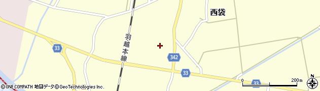 山形県東田川郡庄内町西袋村立73周辺の地図