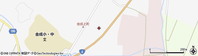 宮城県栗原市金成上町東裏周辺の地図