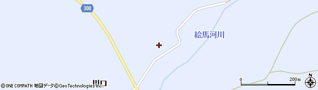 山形県最上郡鮭川村川口23周辺の地図