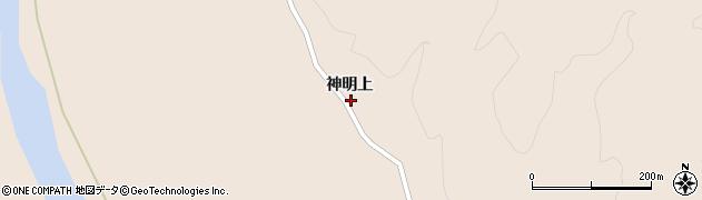 宮城県大崎市鳴子温泉鬼首(神明上)周辺の地図