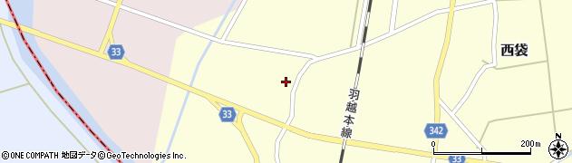 山形県東田川郡庄内町西袋村西周辺の地図