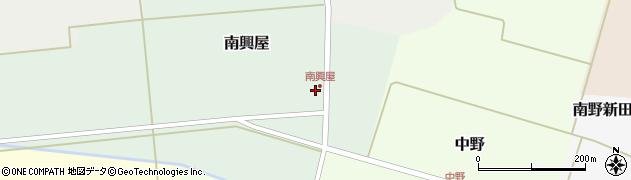 山形県東田川郡庄内町南興屋前通割34周辺の地図