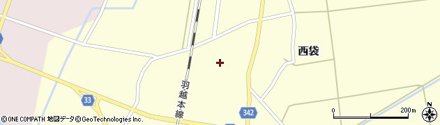 山形県東田川郡庄内町西袋村立84周辺の地図