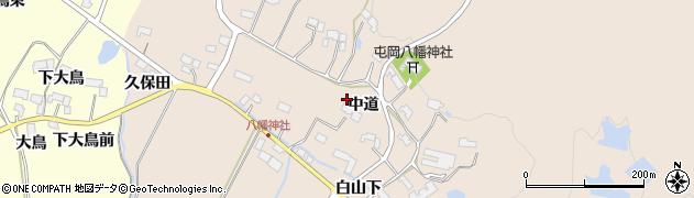 宮城県栗原市栗駒八幡中道周辺の地図