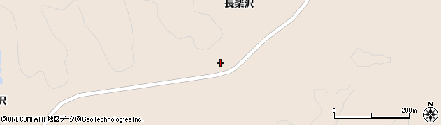 宮城県栗原市栗駒猿飛来中長楽沢周辺の地図