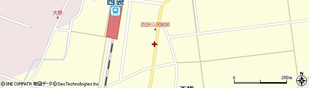 山形県東田川郡庄内町西袋駅前57周辺の地図