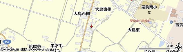 宮城県栗原市栗駒稲屋敷大鳥東側周辺の地図