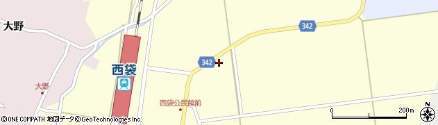山形県東田川郡庄内町西袋駅前18周辺の地図