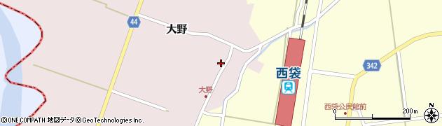 山形県東田川郡庄内町大野周辺の地図