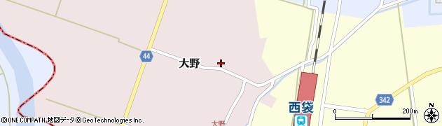 山形県東田川郡庄内町大野太農周辺の地図