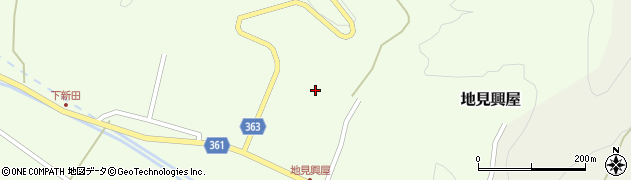 山形県酒田市地見興屋村東61周辺の地図