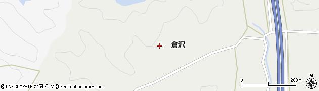 宮城県栗原市若柳有賀倉沢周辺の地図