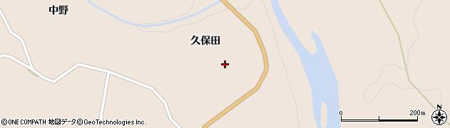 宮城県大崎市鳴子温泉鬼首(久保田)周辺の地図