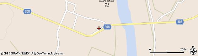 山形県最上郡鮭川村庭月2972周辺の地図