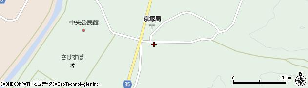 山形県最上郡鮭川村京塚1110周辺の地図