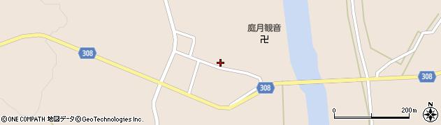 山形県最上郡鮭川村庭月2835周辺の地図