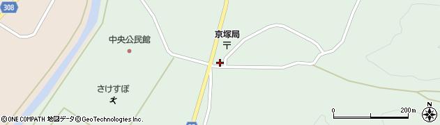山形県最上郡鮭川村京塚1158周辺の地図