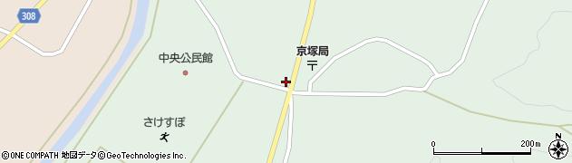 山形県最上郡鮭川村京塚1188周辺の地図