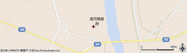 山形県最上郡鮭川村庭月観音寺周辺の地図