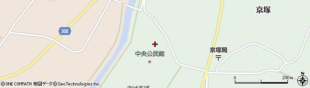 山形県最上郡鮭川村京塚1323周辺の地図